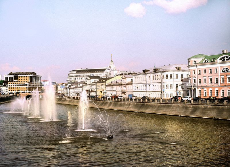 Fountains, City Canal, Moscow, Russia