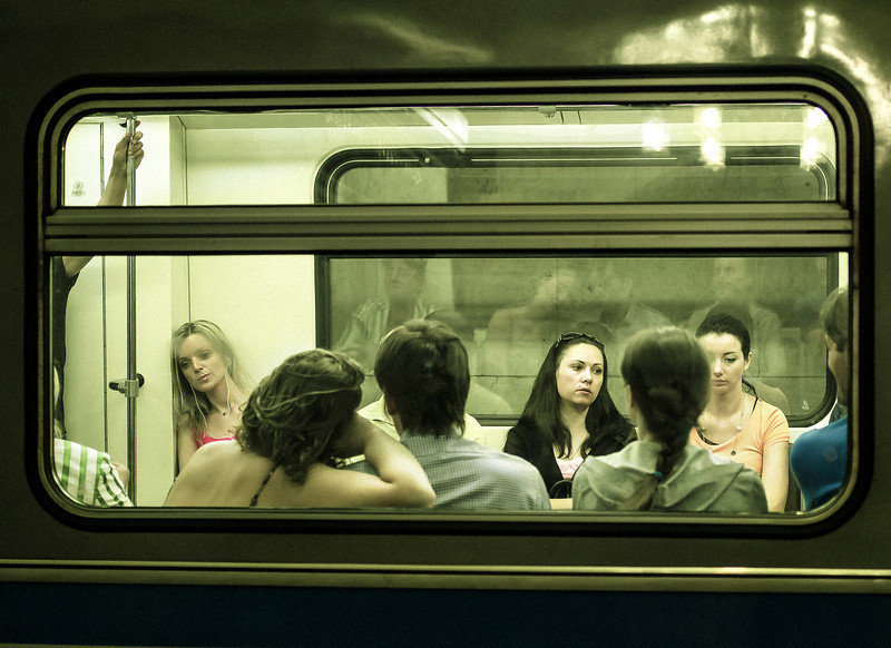 Through a Window, Subway, Moscow, Russia