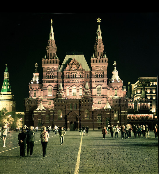 Night, II, Red Square, Moscow, Russia