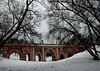 The Large Bridge over The Ravine (1778, 1784-85), Tsaritsyno, Moscow.<br /> <br /> The restoration of the bridge started in 1985. It was completed in whole in 1995.