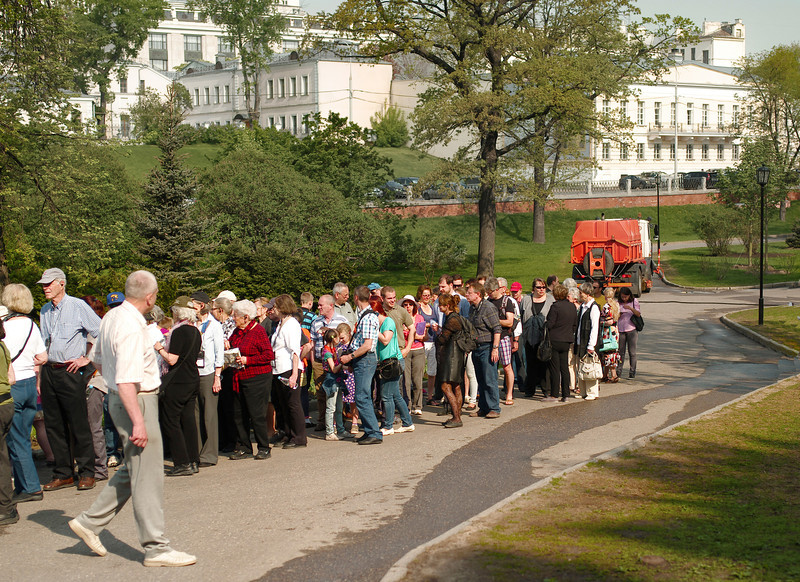 Queue, Kremlin Gate, Moscow, Russia