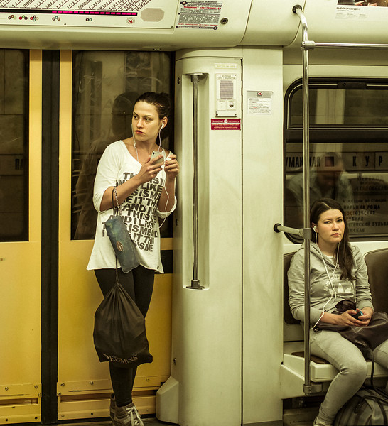 Music, Subway, Moscow, Russia