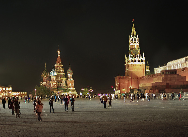 Night, I, Red Square, Moscow, Russia