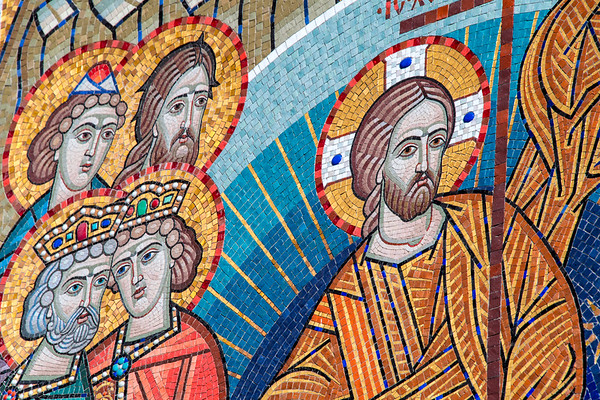 russia, moscow, red square, resurrection gate, art, mosaics, iberian chapel