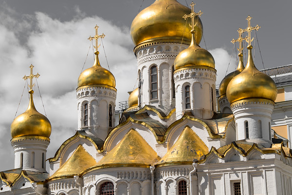 russia, moscow, kremlin, architecture, churches, cathedral of the annunciation, golden domes