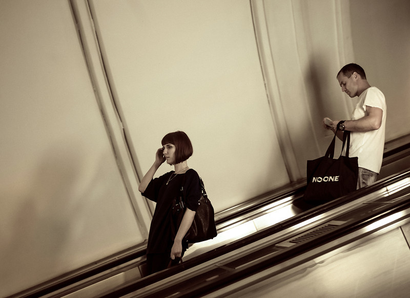 Short Hair, Subway, Moscow, Russia