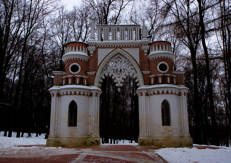The Figure (Grapevine) Gate (1777-78), Tsaritsyno, Moscow