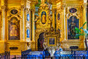 The interior of the Peter and Paul Cathedral, a Russian Orthodox cathedral located inside the Peter and Paul Fortress in St. Petersburg, Russia.