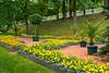The gardens of Peterhof in Petergof, St. Petersburg, Russia.