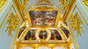 The Imperial Chapel interior of the Grand Church at Peterhof Palace, Petergof, St. Petersburg, Russia.
