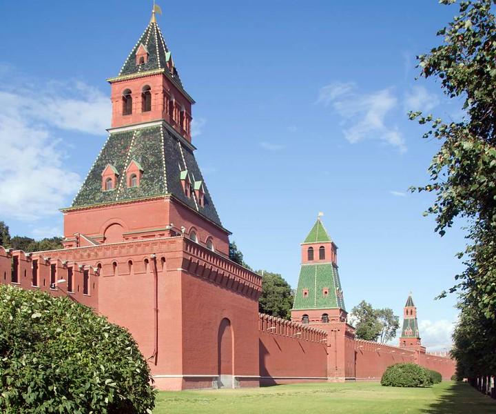 Kremlin walls, Moscow, 30 August 2015.
