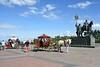 Bogdan Khitrovo monument, Ulyanovsk, 1 September 2015.  Khitrovo was a Russian noble who founded Simbirsk (now Ulyanovsk) in 1648.