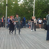 Couples dancing in Gorky Park on Victory day