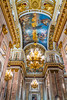 Interior of the St. Isaac's Cathedral in St. Petersburg, Russia.