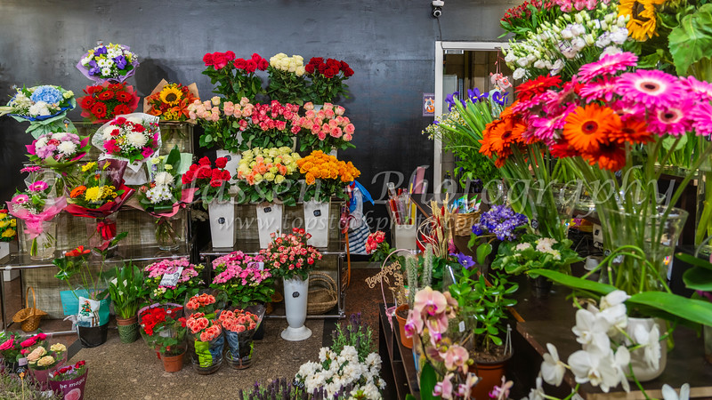 A florist shop at a Metro Station in St. Petersburg, Russia.