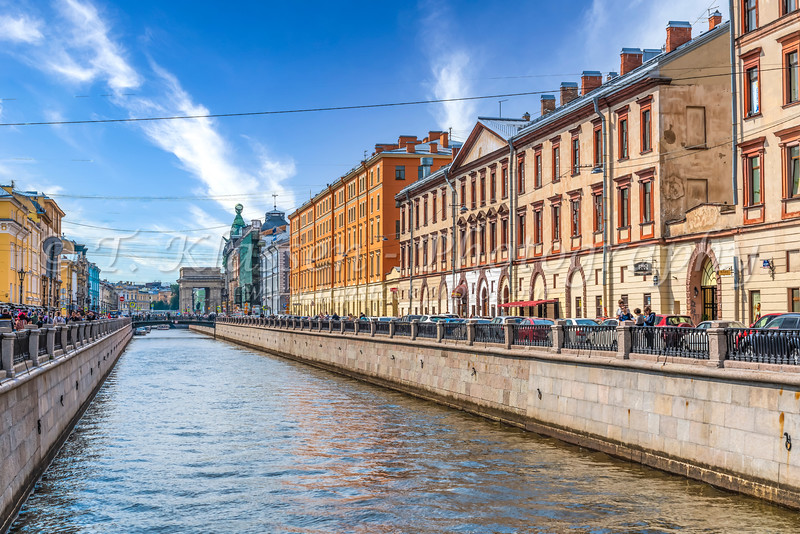 One of the canals in St. Petersburg, Russia.
