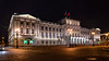 Yusopov Palace illuminated at night in St. Petersburg, Russia.