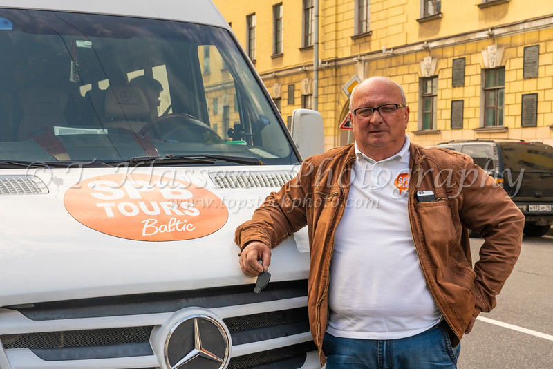 Our tour van driver Valero in St. Petersburg, Russia.