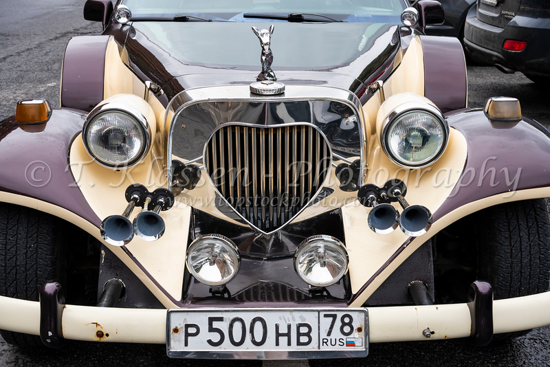 A specialty luxury car on the street in St. Petersburg, Russia.