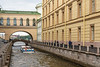 A view along a canal in St. Petersburg, Russia.