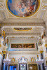 Interior architecture and artwork in the State Hermitage Museum in St. Petersburg, Russia.