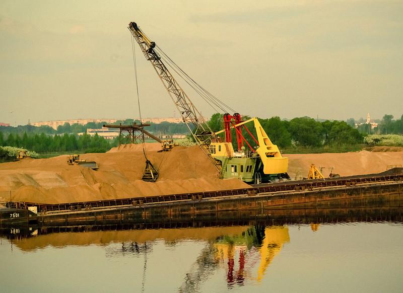 Crane, II, Loading Sand, near Uglish, Russia