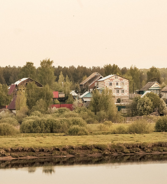 Houses, near Uglish, Russia