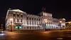 Yusopov Palace illuminated at night in St. Petersburg, Russia.