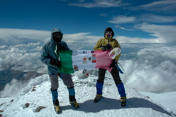 Keli and I at the summit, Mt. Elbrus, 2006