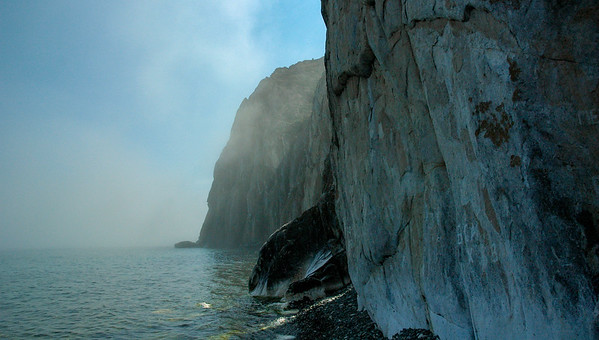 Morning cliffs, Lake Baikal, 2006