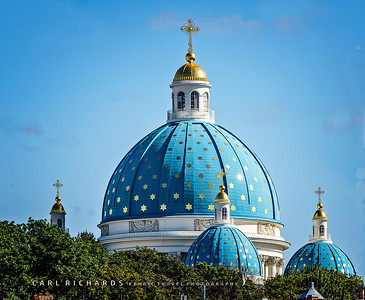 The Roof of Trinity Izmailovskiy Cathedral in St. Petersburg