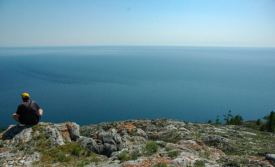 Looking out over Lake Baikal, 2006