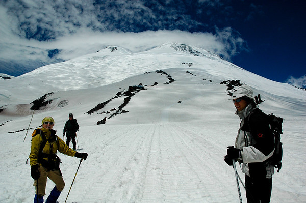 On the slopes of Mt. Elbrus, 2006