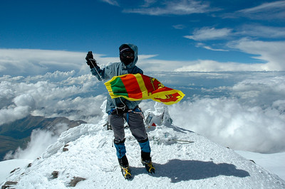 At the summit, Mt. Elbrus, 2006