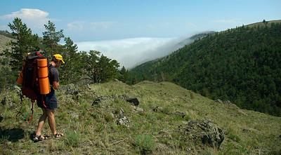 Hiking near Lake Baikal, 2006