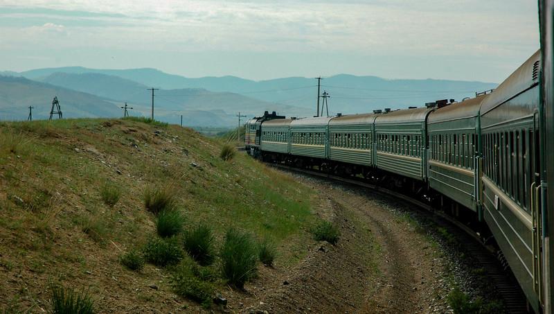 Train towards Mongolia, south of Irkutsk, 2006