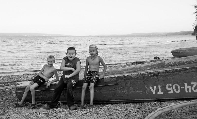 Boys at Wolga, Tatarstan.