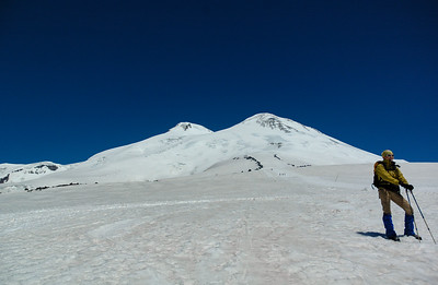 Looking up to Mt. Elbrus, 2006