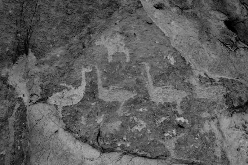 Ancient cliff drawings, Lake Baikal, 2006