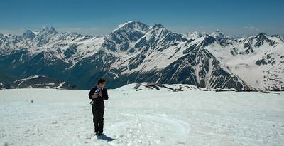 At base camp, Mt. Elbrus, 2006