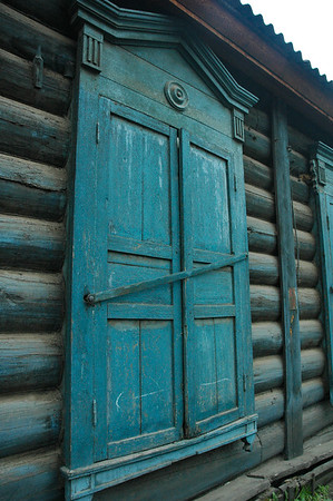 Wooden windows, Irkutsk, 2006