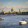 Neva River in St. Petersburg with St. Isaac's Cathedral