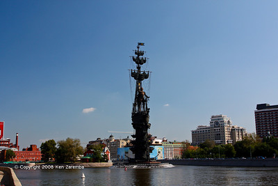 Peter the Great Monument, in the Moskva River, Moscow