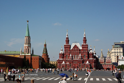 State Historical Museum of Russia next to the Resurrection Gate of Red Square and the Nikolskaya Tower