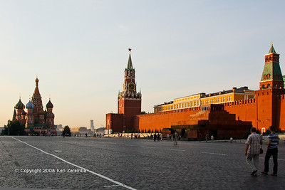 Red Square, St. basil's Cathedral, Spassakaya Tower, Lenin's Tomb and Tsarskaya Tower, Moscow