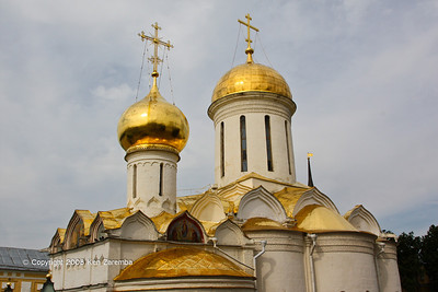 The Trinity Cathedral in the Holy Trinity-St. Sergius Lavra in Sergiev Posad.