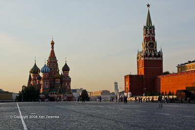 Red Square, St. basil's Cathedral and Spassakaya Tower, Moscow