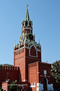 Kremlin's Spasskaya Tower overlooking Red Square