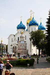 The Assumption Cathedral in the Holy Trinity-St. Sergius Lavra in Sergiev Posad, Russia