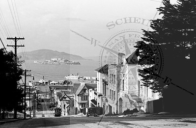 Hyde St View North of Alcatraz & Hyde St Auto Pier -1937